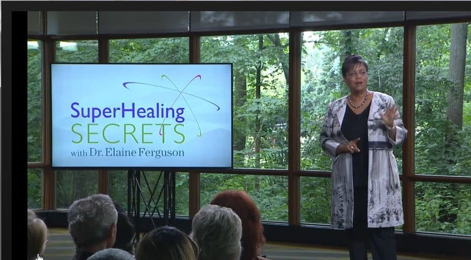 SuperHealing Secrets Elaine onstage left